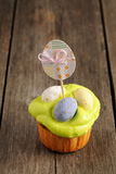 Easter homemade cupcake Royalty Free Stock Images