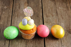 Easter homemade cupcake Royalty Free Stock Photos