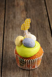 Easter homemade cupcake Royalty Free Stock Photography