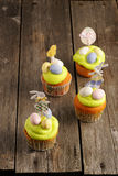 Easter homemade cupcakes Royalty Free Stock Photography