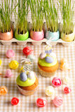Easter homemade cupcakes Stock Photo