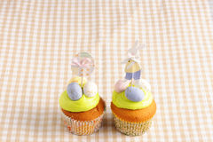 Easter homemade cupcakes Stock Photography