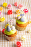 Easter homemade cupcakes Royalty Free Stock Photo
