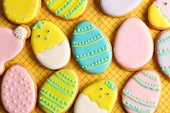 Easter homemade gingerbread cookie Royalty Free Stock Image