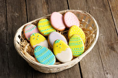 Easter homemade gingerbread cookie Stock Photography