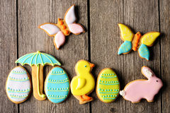 Easter homemade gingerbread cookie Stock Image