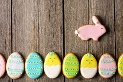 Easter homemade gingerbread cookie Royalty Free Stock Photo