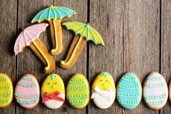 Easter homemade gingerbread cookie Royalty Free Stock Images