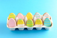 Easter homemade gingerbread cookie Stock Images