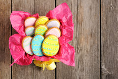 Easter homemade gingerbread cookie Stock Photos