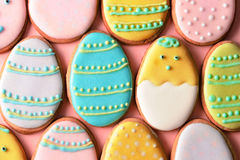 Easter homemade gingerbread cookie Royalty Free Stock Photos