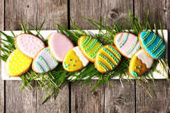 Easter homemade gingerbread cookie Stock Photo