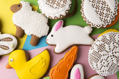Easter homemade gingerbread cookies Stock Images