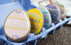 Easter homemade gingerbread cookies Royalty Free Stock Photos