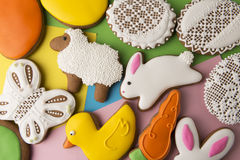 Easter homemade gingerbread cookies Royalty Free Stock Image