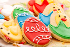 Easter homemade gingerbread cookies Stock Image