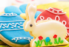 Easter homemade gingerbread cookies Royalty Free Stock Photography