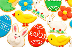 Easter homemade gingerbread cookies Stock Photo