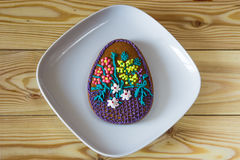 Easter homemade gingerbread cookies decorated with sugar icing Royalty Free Stock Photos