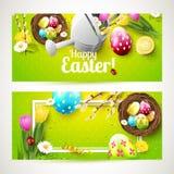 Easter horizontal headers Royalty Free Stock Image