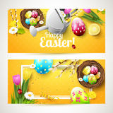 Easter horizontal headers Royalty Free Stock Images
