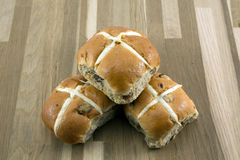 Easter hot cross bun. Stock Photography