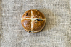 Easter hot cross bun Stock Images