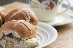 Easter hot cross buns Royalty Free Stock Photo
