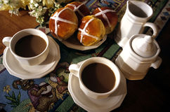 Easter and Hot Cross Buns Royalty Free Stock Photo