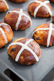 Easter hot cross buns Royalty Free Stock Photography
