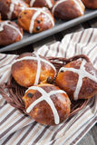 Easter hot cross buns Stock Photo