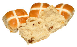 Easter Hot Cross Buns Stock Image