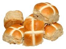 Easter Hot Cross Buns Stock Photography