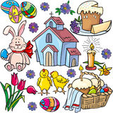 Easter icon set Stock Photography