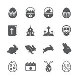 Easter icon set. /16 vector for design Stock Image