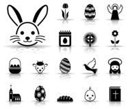 Easter icon set royalty free illustration