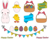 Easter icon set Royalty Free Stock Photo