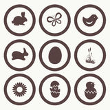 Easter Icon Symbol collection , grouped for easy e Royalty Free Stock Photography