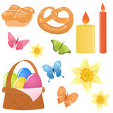 Easter icons. Cute set of Easter and spring themed icons Royalty Free Stock Photography