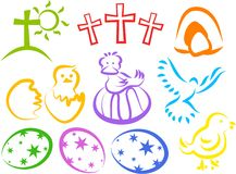 Easter Icons Royalty Free Stock Images