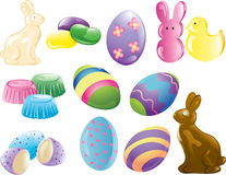 Easter Icons Royalty Free Stock Photos