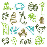 Easter icons. Vector sketchy icons for Easter Royalty Free Stock Images