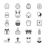 Easter Icons Line Stock Photos