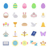 Easter icons set - colored Royalty Free Stock Images