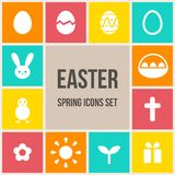 Easter icons set Stock Images