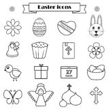 Easter icons set Royalty Free Stock Photo