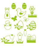 Easter icons set Royalty Free Stock Image