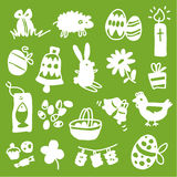 Easter icons - silhouettes Stock Image