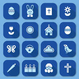 Easter icons, vector Stock Photography