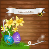 Easter illustrated background Stock Photography